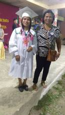 High School Graduate: Junamae T. Tao, With Honors, NC2holder, TVL(Food&Beverages Service) with her mother.